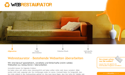 Webrestaurator - Homepage Relaunch